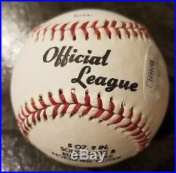 Ted Williams Signed Baseball JSA authentication Boston Red Sox HOF