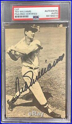 Ted Williams Signed Photo Autograph AUTO PSA/DNA Boston Red Sox The Kid Bold Sig