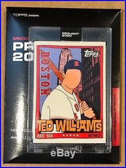 Topps Project 2020 Ted Williams # 34 By Fucci. Print Run 1,131