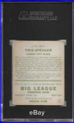 Tris Speaker 1933 Goudey Sgc 2! New Label/nicely Centered Rarer / T206