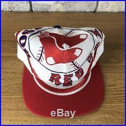Vintage 90s Boston Red Sox The Game Big Logo Snapback Hat Cap MLB