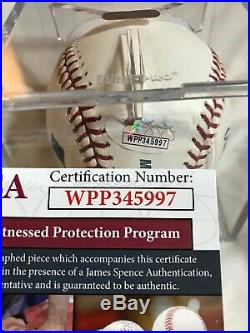 Wade Boggs Autographed MLB Baseball Withinscrip HOF 95 JSA Red Sox Yankees