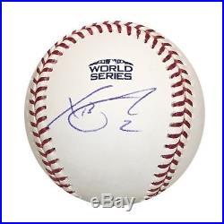 Xander Bogaerts Boston Red Sox Autographed 2018 World Series Signed Baseball PSA